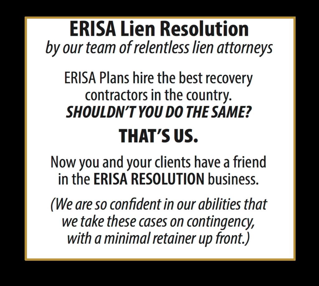 ERISA LIEN RESOLUTION 2
