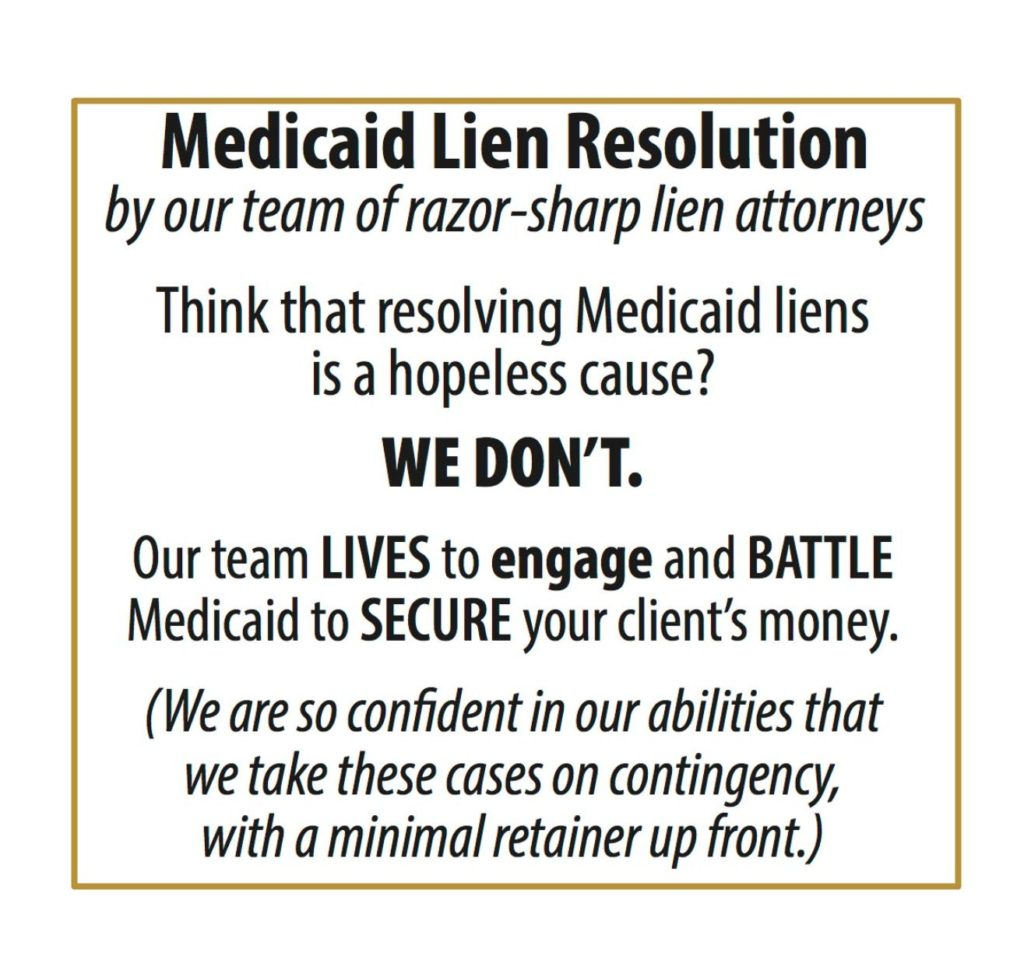 Medicaid Lien Resolution